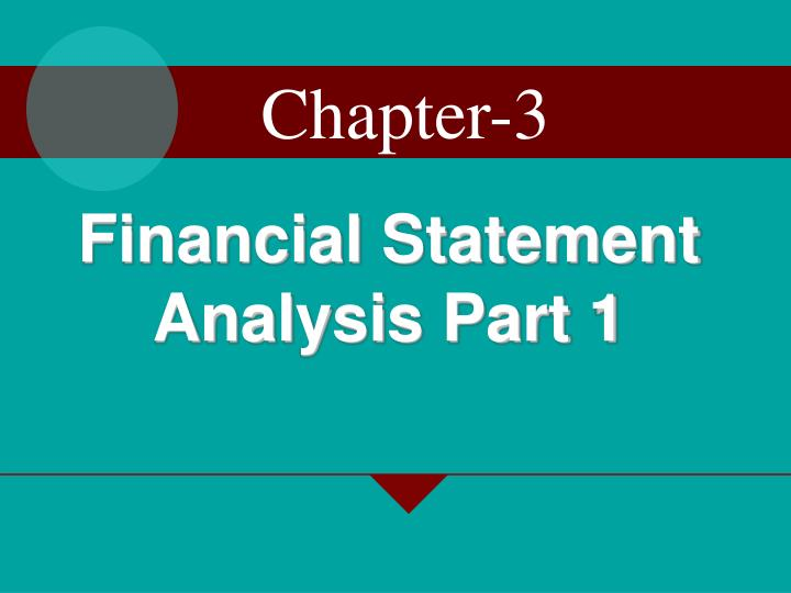 Financial statement analysis part 1