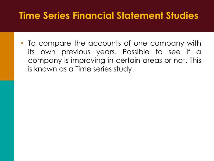 Time Series Financial Statement Studies