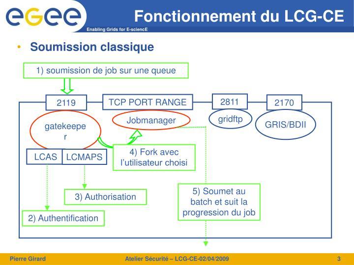 Fonctionnement du LCG-CE