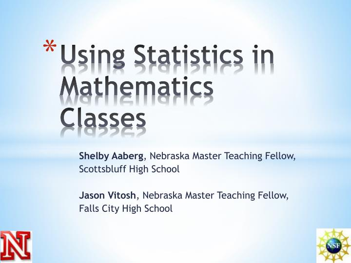 using statistics in mathematics classes