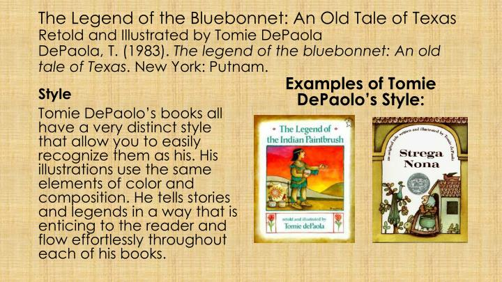 The Legend of the Bluebonnet: An Old Tale of Texas