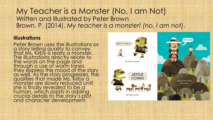 My Teacher is a Monster (No, I am Not)