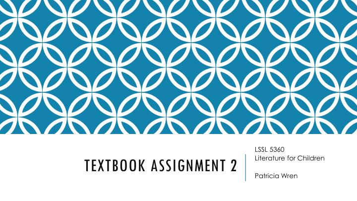 Textbook assignment 2
