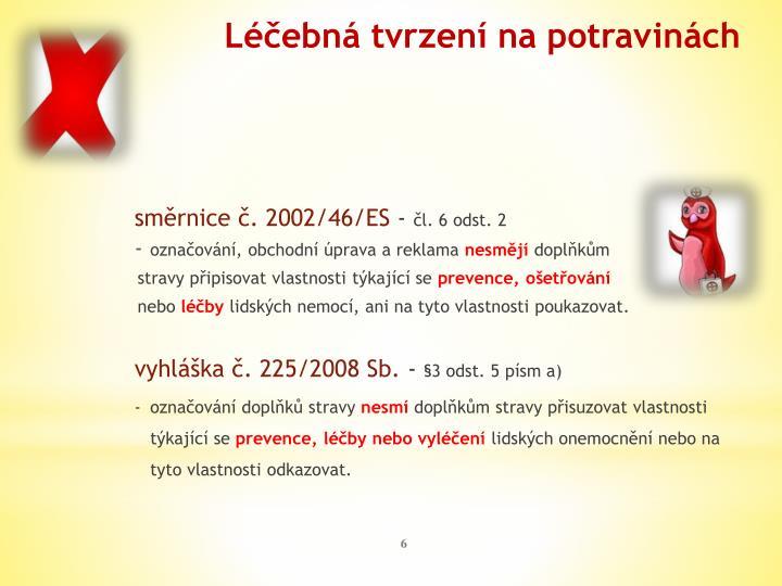 směrnice č. 2002/46/ES