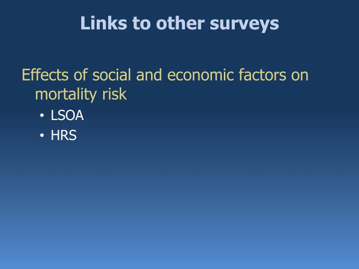 Links to other surveys