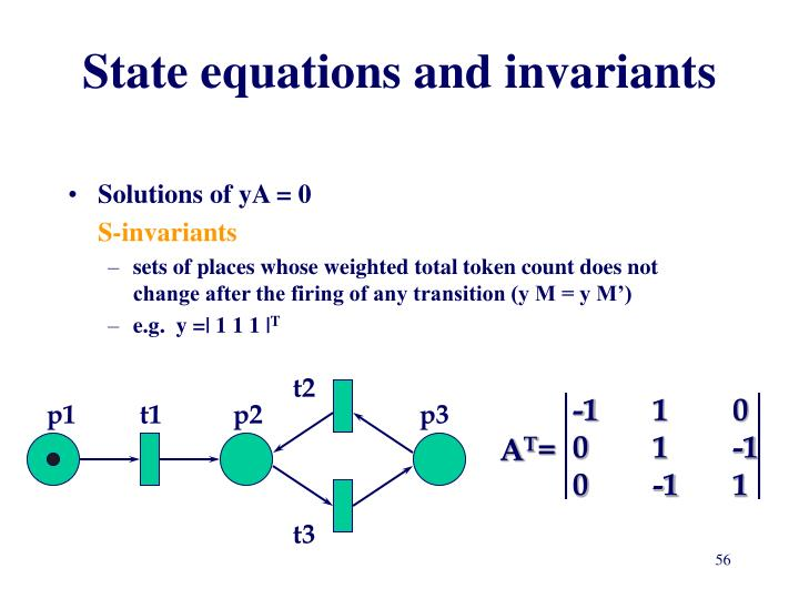 State equations and invariants
