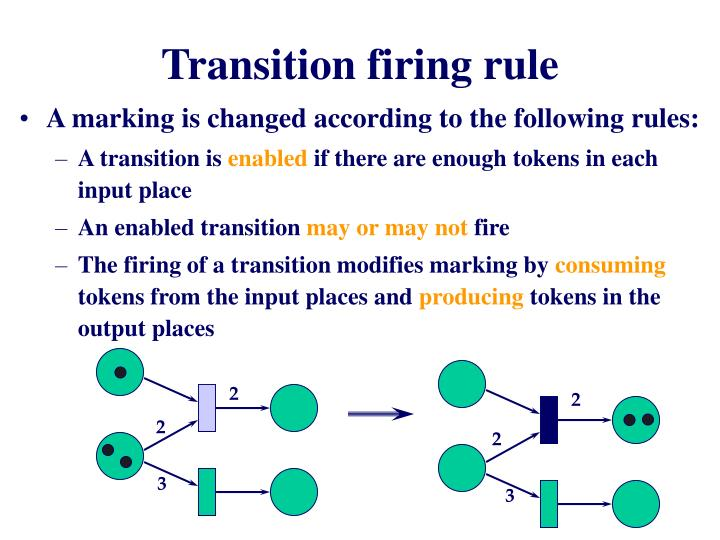 Transition firing rule