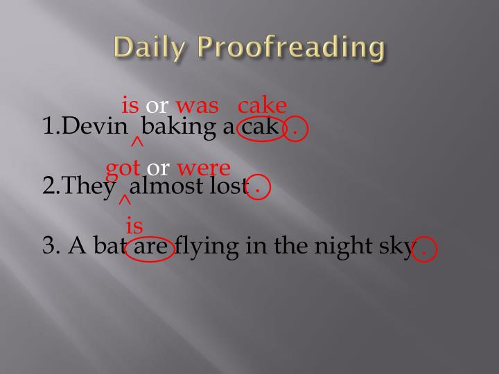 Daily Proofreading