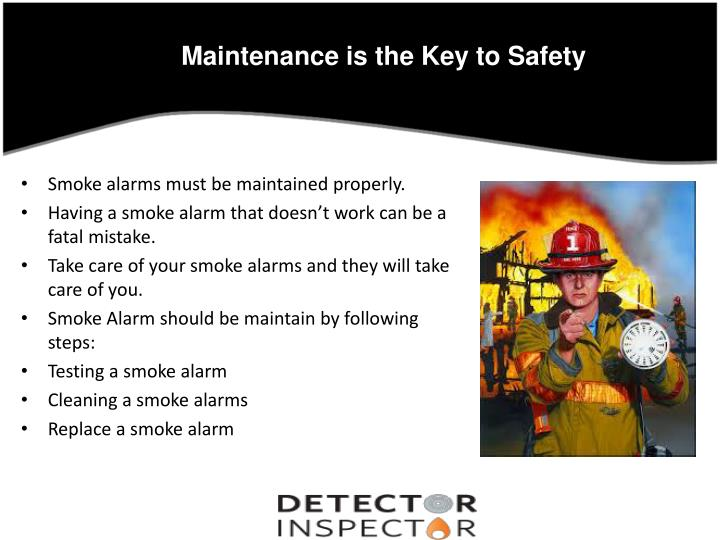 Maintenance is the Key to Safety