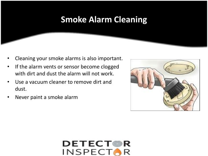 Smoke Alarm Cleaning