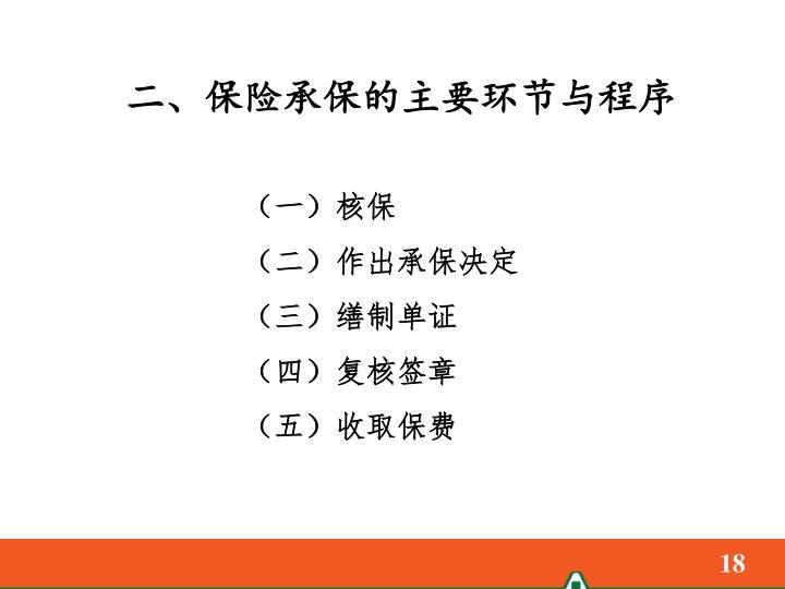 二、保险承保的主要环节与程序
