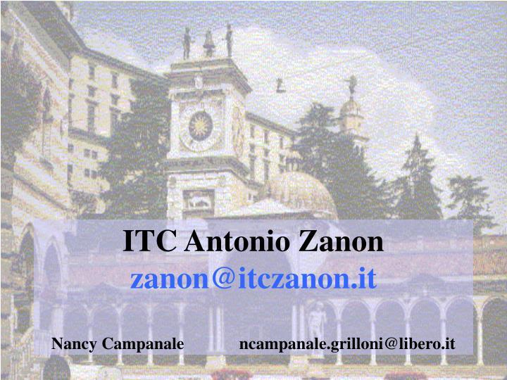 ITC Antonio Zanon