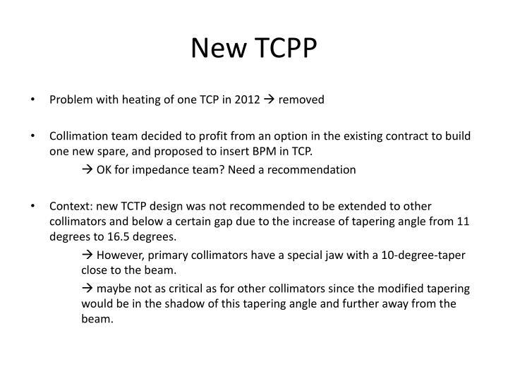 New TCPP