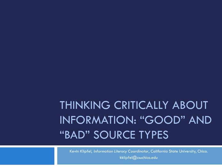 critical thinking in health information technology