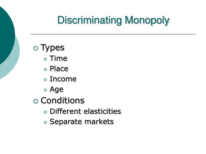 Discriminating Monopoly