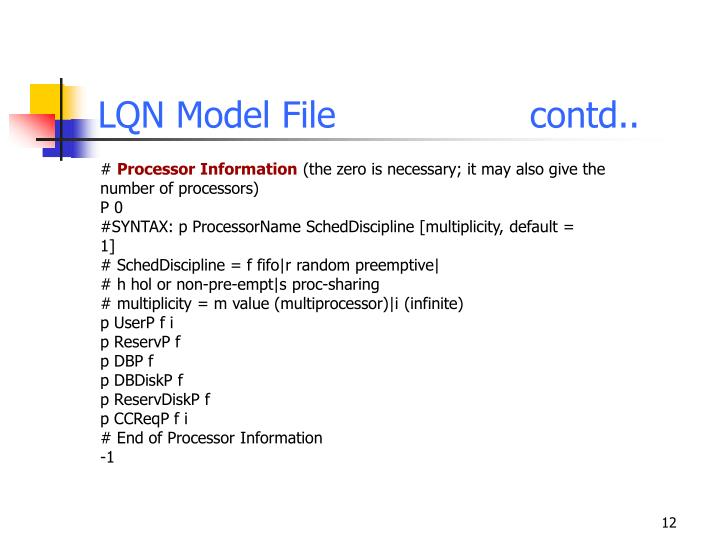 LQN Model Filecontd..