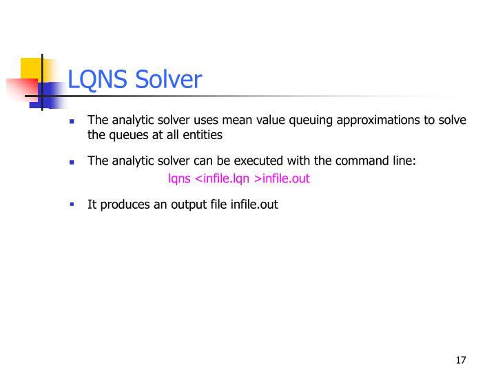 LQNS Solver