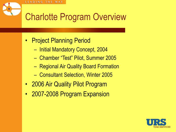 Charlotte Program Overview