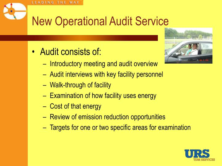 New Operational Audit Service