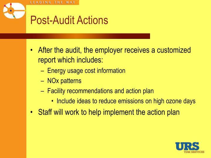 Post-Audit Actions