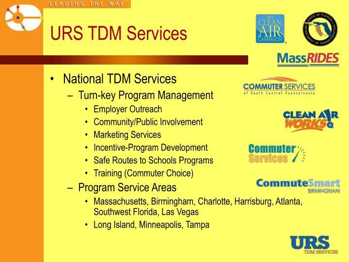 URS TDM Services