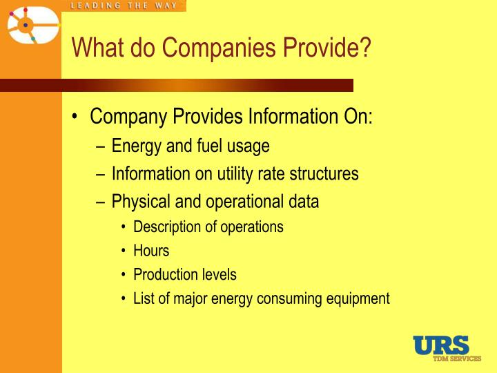 What do Companies Provide?