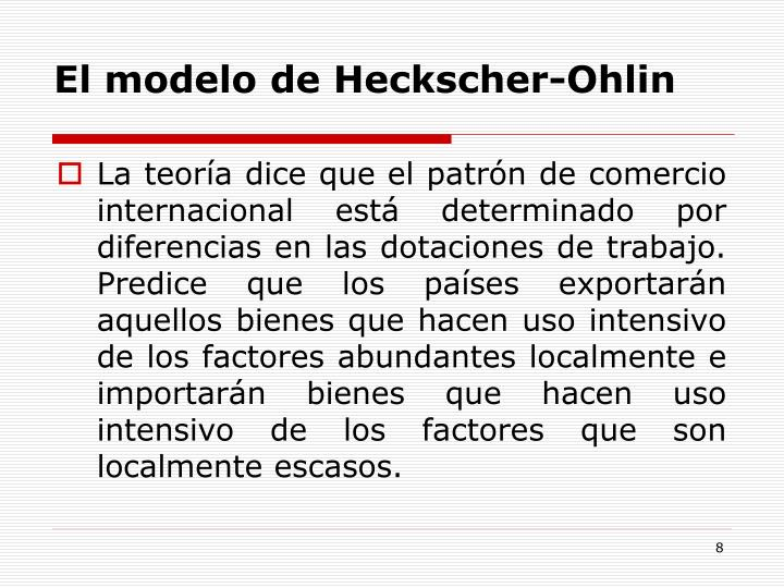 El modelo de Heckscher-Ohlin