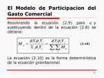 el modelo de participacion del gasto comercial4