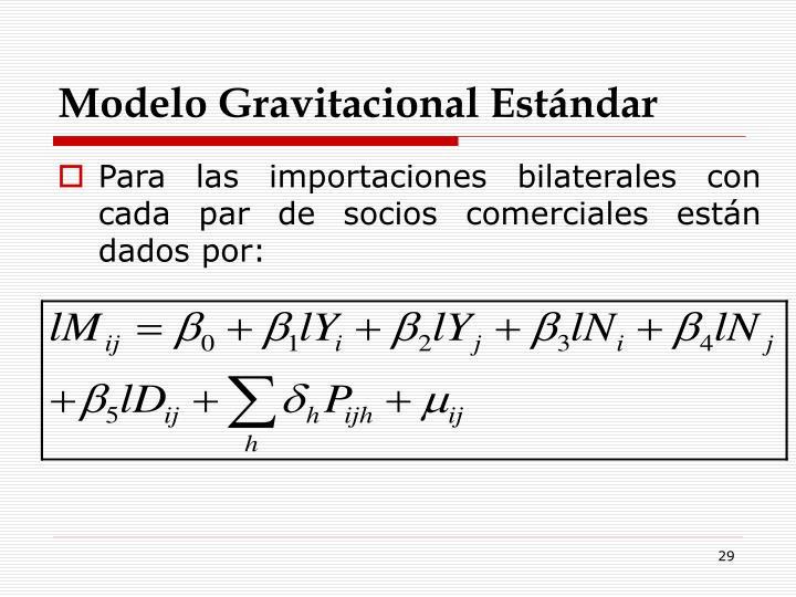 Modelo Gravitacional Estándar