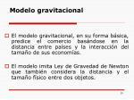 modelo gravitacional