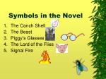 symbols in the novel