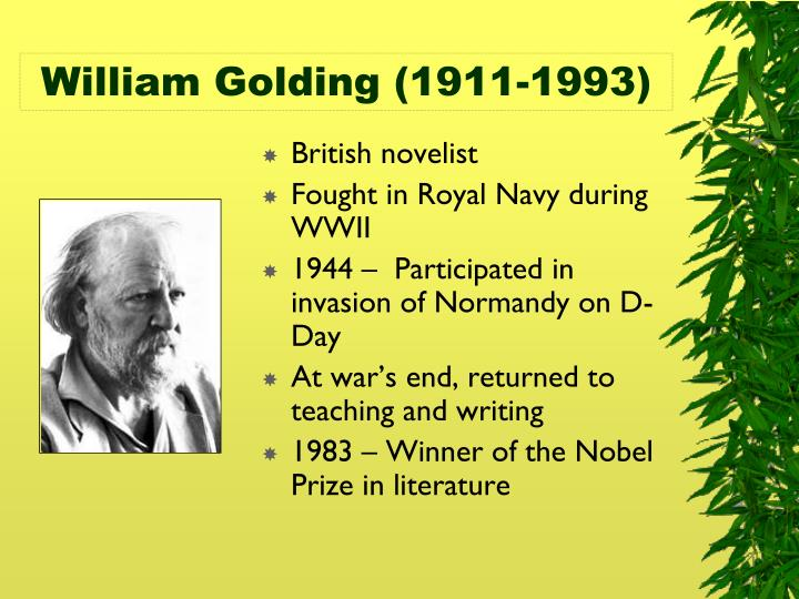 William golding 1911 1993