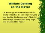 william golding on the novel