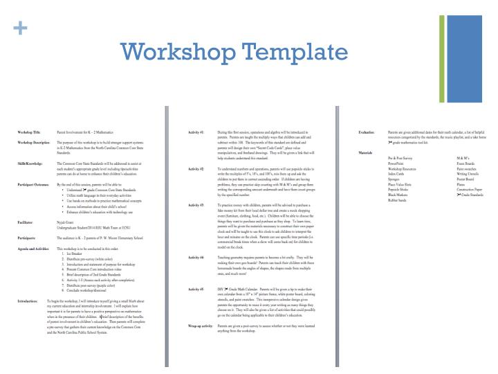 Workshop Template