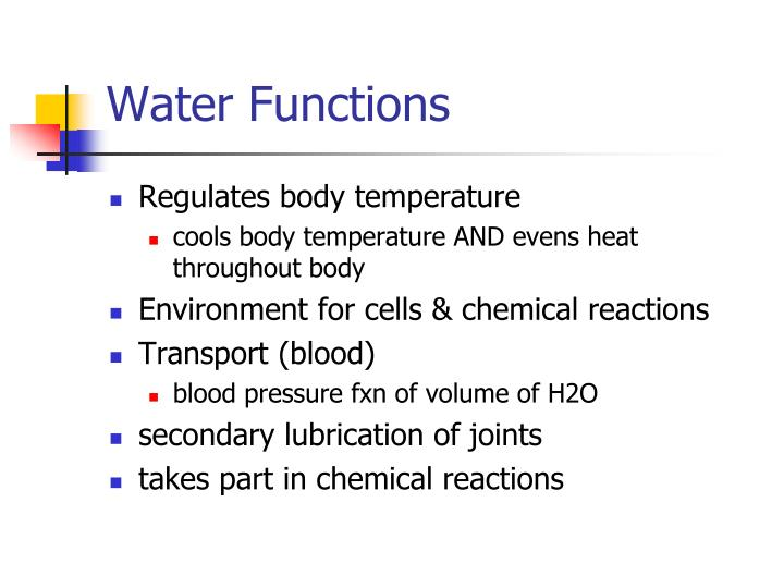 Water Functions