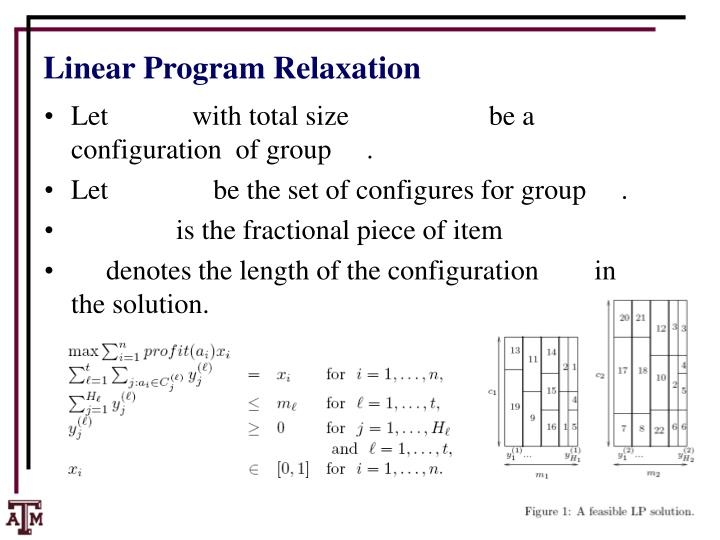 Linear Program Relaxation
