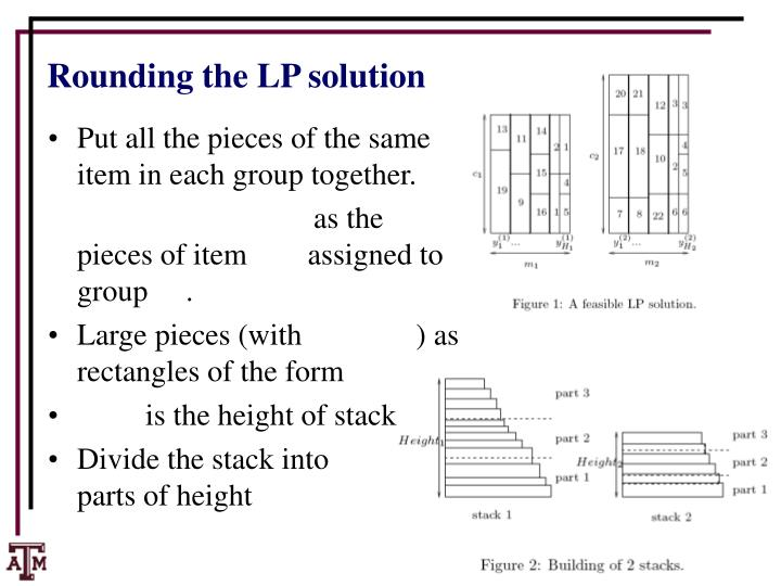 Rounding the LP solution