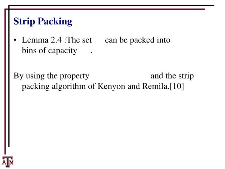 Strip Packing