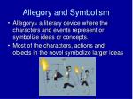 allegory and symbolism