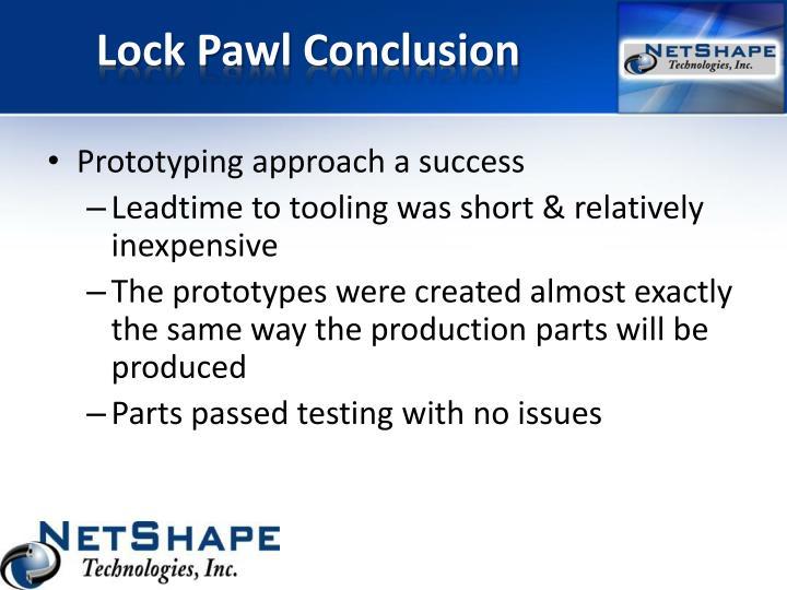 Lock Pawl Conclusion