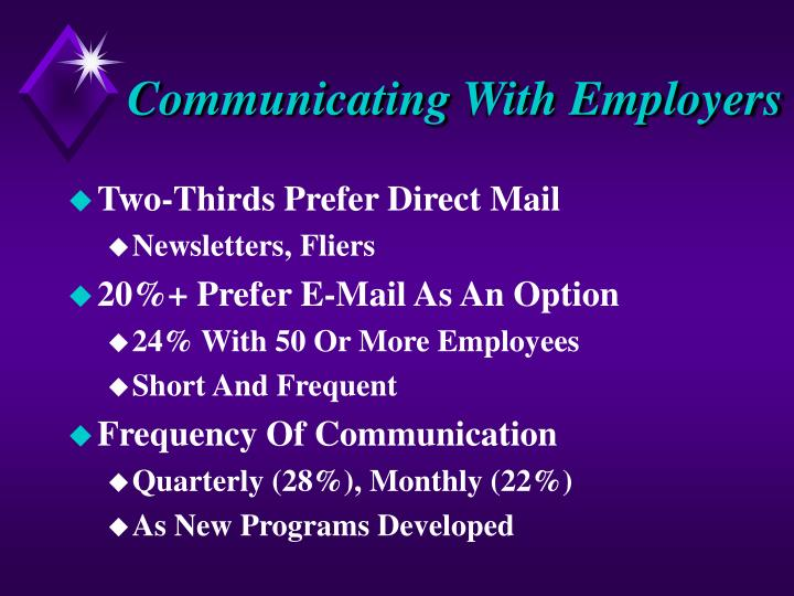 Communicating With Employers