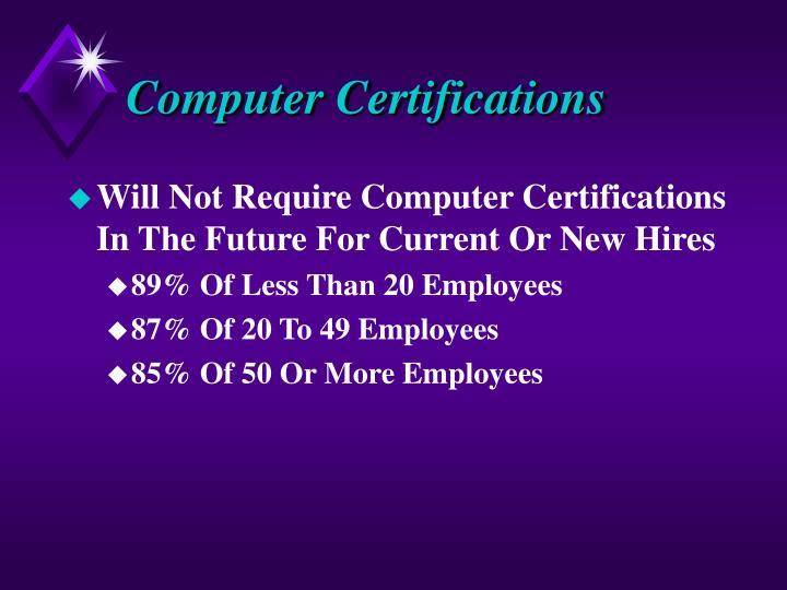 Computer Certifications