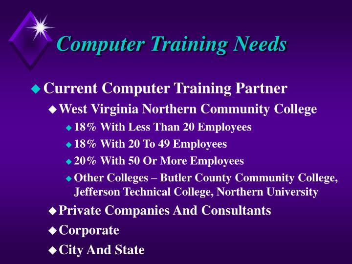 Computer Training Needs