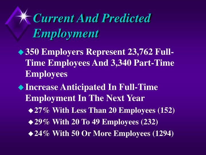 Current And Predicted Employment