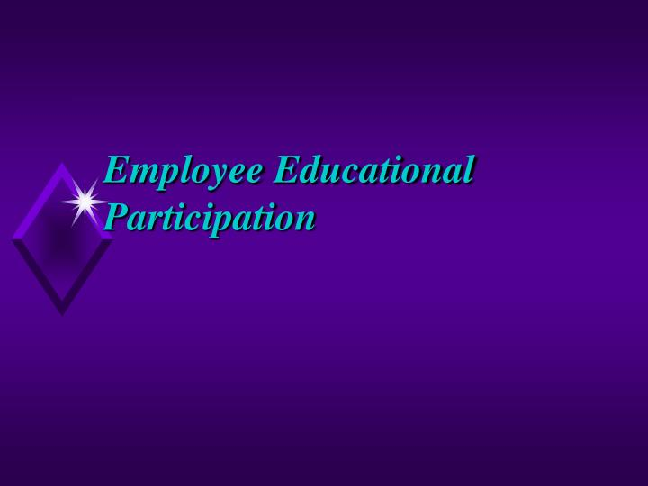 Employee Educational Participation