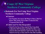 usage of west virginia northern community college1