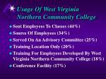 usage of west virginia northern community college2