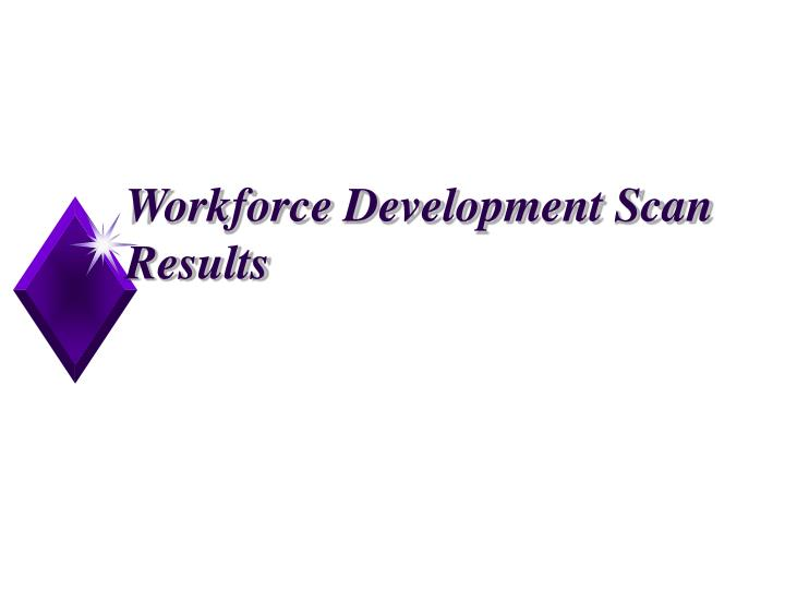 Workforce Development Scan Results