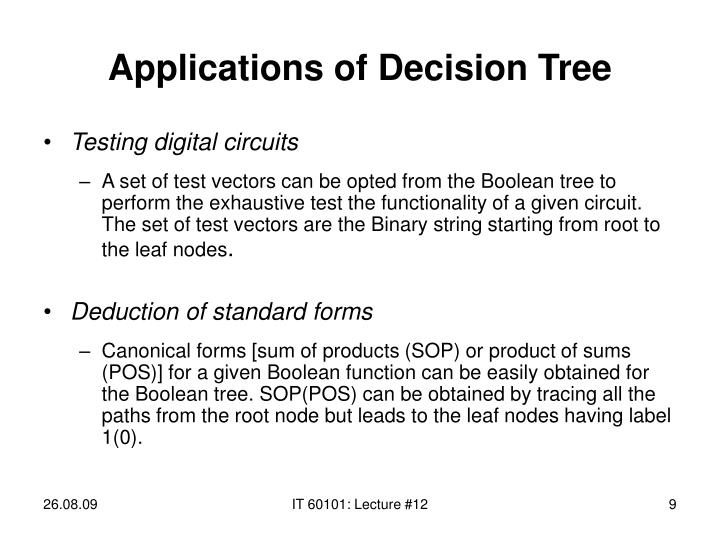 Applications of Decision Tree
