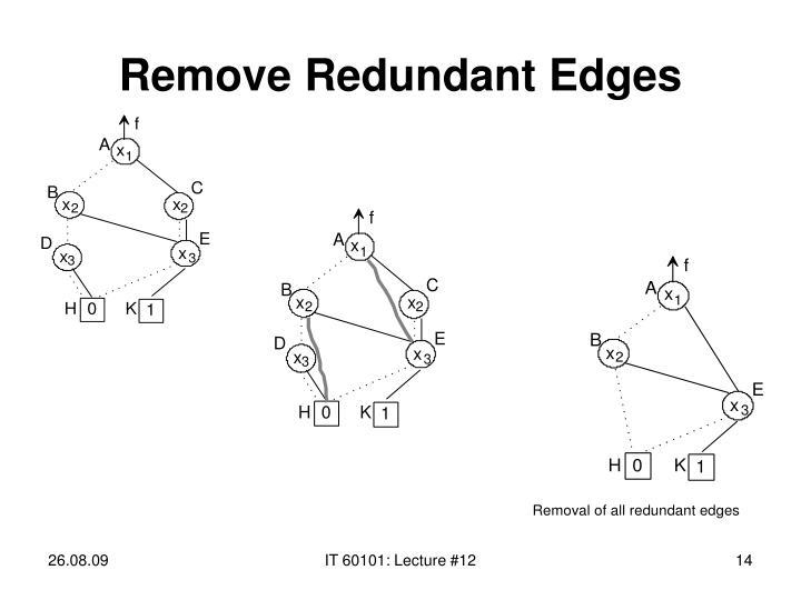 Remove Redundant Edges